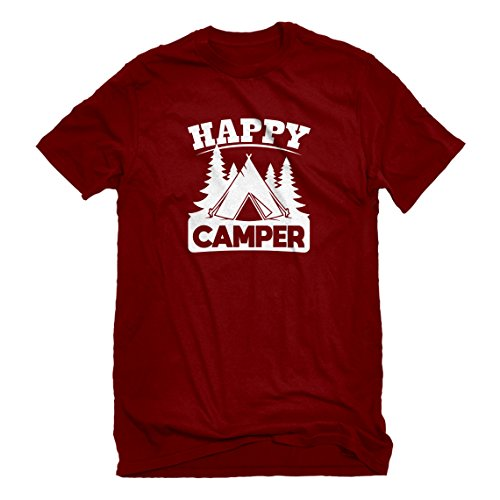 Mens Happy Camper XX-Large Red T-Shirt -