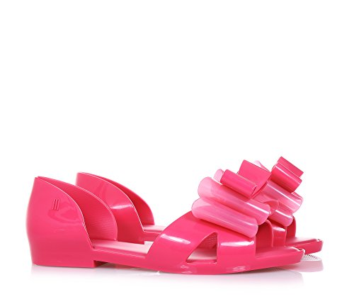 MINI MELISSA - Sandalia fucsia Seduction II, made in Brazil, hecha enteramente de plástico Melflex, Niña, Niñas