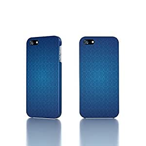 Apple iPhone 4 / 4S Case - The Best 3D Full Wrap iPhone Case - Blue retro pattern