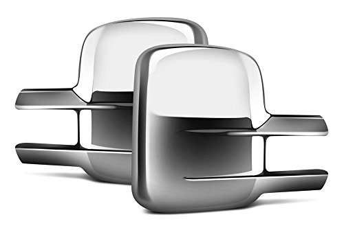 Restyling Factory 06-14 Chevy Silverado 1500, 06-15 Chevy Silverado 2500/3500, 06-14 GMC Sierra 1500, 06-15 GMC Sierra 2500/3500 Triple Chrome Plated ABS Towing Mirror Cover (Chrome) (93 Chevy 1500 Grille compare prices)