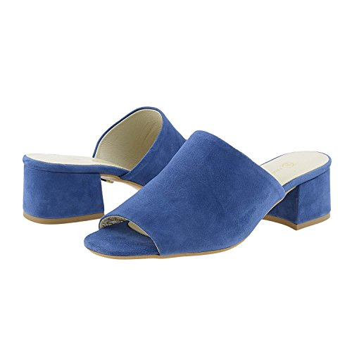 en Sandales Bleu Paula Alonso Daim T7RAwqEnUx