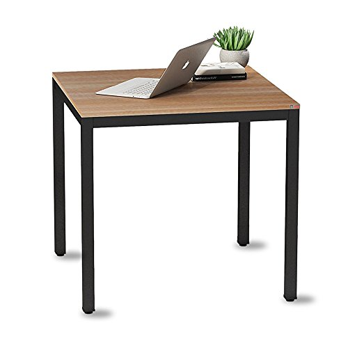 need small computer desk for home&office- 31.5'' modern work station furniture for writing, gaming or students laptop use, teak color surface black legs ac3bb-80-40
