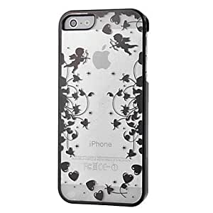GJYHeart with Angel Pattern Plastic Hard Case for iPhone 5/5S (Assorted Colors) , Rose