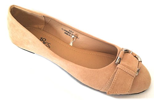 Buckle Suede Leather W Micro Ballet Flats Faux Shoes 18 5058 Nude Womens Ballerina Shoes Uqwzx7BR8