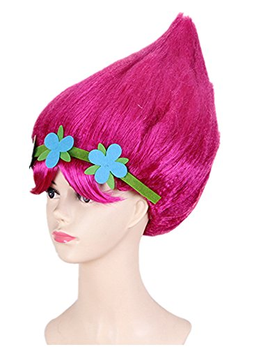 Troll Wigs (FSBBUT (TM) Trolls Poppy Wig 12Inch for Kids and Adult for Halloween Party For Trolls Costume (Trolls))