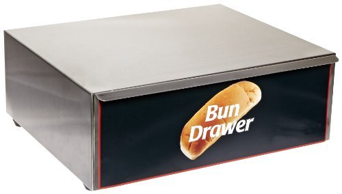 Benchmark 65010 Dry Bun Box, 16 Width x 7 Height x 13 Depth, For 10 Hotdog Roller Grill by Benchmark