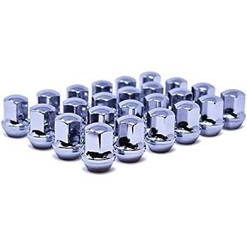 Set of 20 Veritek 14x1.5mm Chrome 7//8 22mm Hex Duplex Acorn OEM Style 1.5 Inch 38.5mm Lug Nuts for Factory Wheels