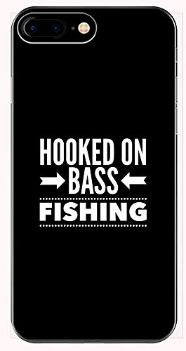 (Bass Fishing Phone Case for iPhone 6+, 6S+, 7+, 8+ - Hooked On - Fisherman)