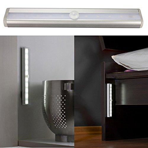 PhilMat Detector magnético sensor de movimiento pir 10 LED tira del cajón del gabinete luz: Amazon.es: Iluminación