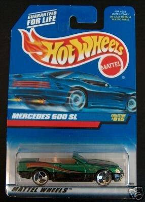 Hot Wheels 1998 Green Mercedes 500 SL #815 1:64 Scale