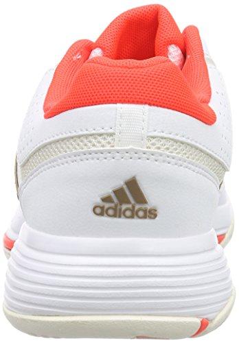 adidas Barricade Court W - Zapatillas para mujer Blanco / Naranja / Dorado