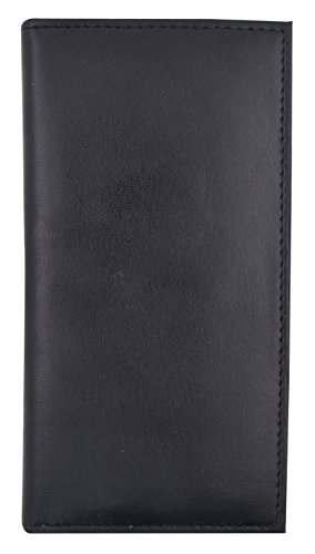 Basic PU Leather Checkbook Covers NEW COLORS (Black) (Checkbook Cover Black)