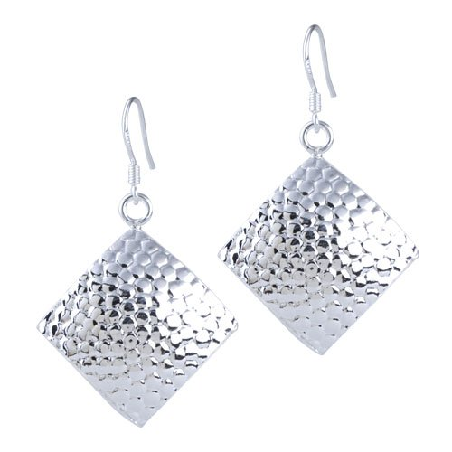 Pugster Vintage Fish Scale Pattern Square Dangle ()