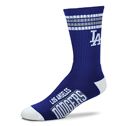 Los Angeles Dodgers 4 Stripe Crew Socks Size Large Mens 10-13