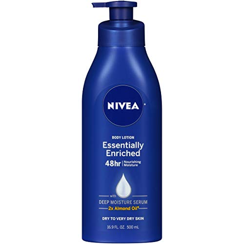 - NIVEA Essentially Enriched Body Lotion - 48 Hour Moisture For Dry to Very Dry Skin - 16.9 oz. Pump Bottle