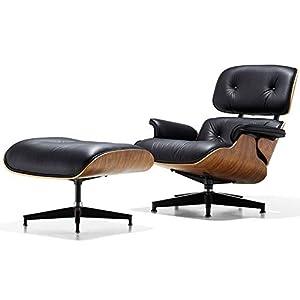 JenLn Moderna e mobili in Stile Divano Comoda Poltrona Reclinabile Poltrona Lounge con Pouf in Pelle PU for Soggiorno… 4 spesavip
