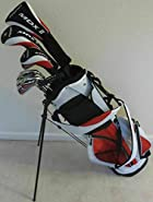 "Tour Precision Tall Mens Golf Set All Graphite Shafts Driver, Fairway Wood, Hybrid, Irons, Putter, Stand Bag Clubs +1"" Length"
