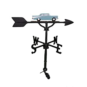 Montague Metal Products 32-Inch Weathervane with Teal Classic Car Ornament