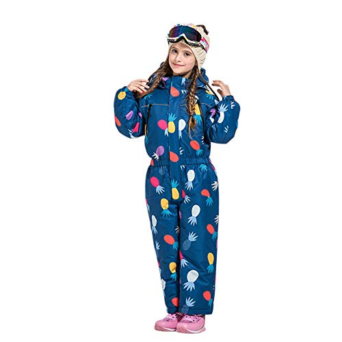 (Fosheng Kid's Ski Suit - Children Overall One Piece Winter Snowsuit Waterproof Windproof, for Skiing & Snowboarding Holidays )