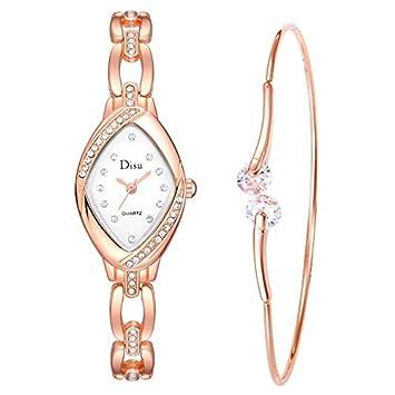 Longra Relojes de Diamantes/Reloj de Pulsera de Temperamento Lady con diseño para Mujer: Amazon.es: Deportes y aire libre