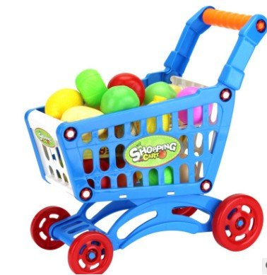 Kiddie Play Grocery Shopping Toy Cart With Fruits, Vegitables and Food items