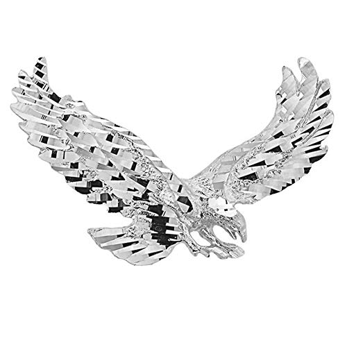 (Religious Jewelry by FDJ Polished 925 Sterling Silver Soaring Christian Eagle Charm Pendant)