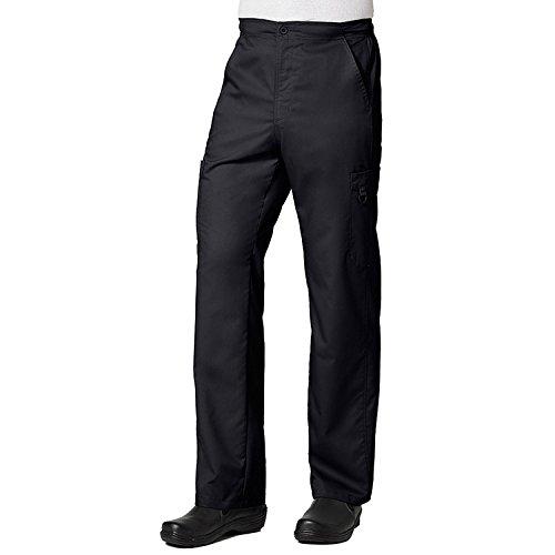 Half Equipment Panel (Maevn Uniforms Eon Men's Coolmax Half-Elastic Drawstring Waist Cargo Scrub Pant X-Small Petite Black)