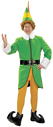 Buddy And Jovi Costumes (Rubie's Men's Grand Heritage Deluxe Buddy The Elf Costume, Green, Large)