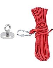 Taidda Ímã de pesca, ferramenta de pesca, corda de pesca, ímã de pesca de salvamento, corda vermelha de 20 metros D75 para acampamento subaquático e caça ao tesouro