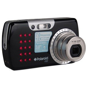 Polaroid T737 7MP 3x Optical/4x Digital Zoom Camera (Black)
