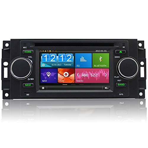 A-Sure Car DVD GPS Sat Nav stereo for Jeep Dodge Chrysler 300c BT RDS 3G SWC DAB+ (In Car Entertainment System With Sat Nav)
