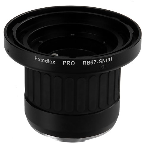 Fotodiox Pro Lens Mount Adapter - Mamiya RB67 Mount SLR Lens to Sony Alpha A-Mount (and Minolta AF) Mount SLR Camera Body with Built-in Focusing Helicoid, Black (RB67-SnyA-Pro)