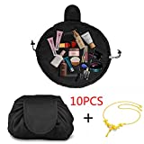 Drawstring Make-up Pouch,Lazy Ladies Storage Cosmetic Magic Bag Large Capacity Portable Quick Pack Waterproof Travel Bag