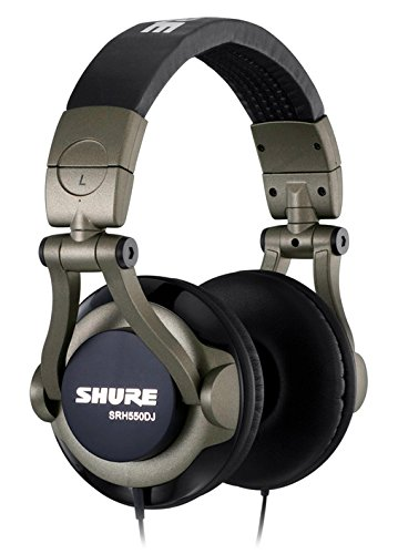 Shure SRH550DJ Professional Quality DJ Headphones (Smokey Grey)