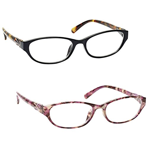 f3360af533 The Reading Glasses Company Black Brown   Pink Tortoiseshell Readers Value  2 Pack Womens Ladies Inc