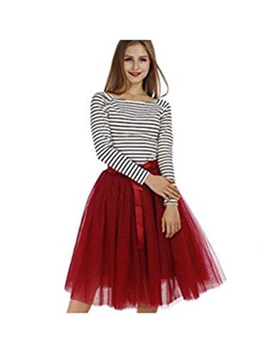 Vickyben - Vestido - para mujer borgoña