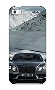 New Design Shatterproof GOmFyfT15348nYYli Case For Iphone 5c (bentley Continental Gt V8 Gray Speed V Cars Bentley)