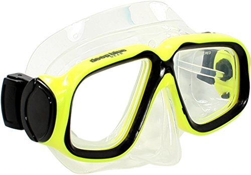 (Deep Blue Gear Kids Diving Snorkeling Mask (Maui Jr.), Different Strength For Each Eye, Yellow)