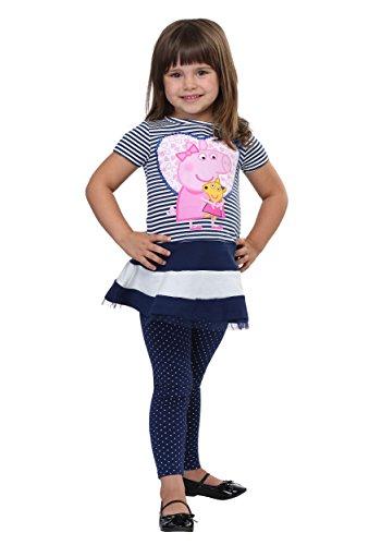 (Peppa Pig Stripes and Polka Dots Tutu Shirt and Leggings 2T)
