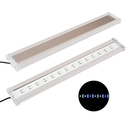 NICREW BrightLED Aquarium Light, Full Spectrum Fish Tank Light for Planted Tanks, 18 to 24-inch, 18-Watt, 1200 LM, 7500K