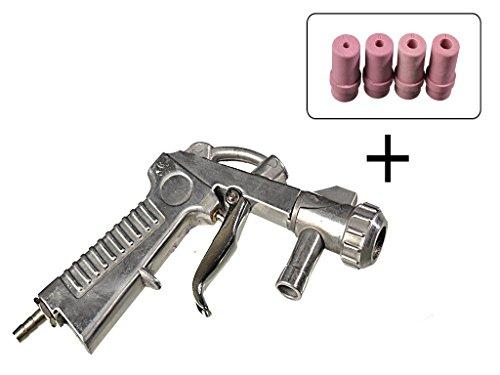 Sandstrahlpistole mit 4 Aufsätzen für Strahlkabinen SBC-90 / 220 / 350 / P1