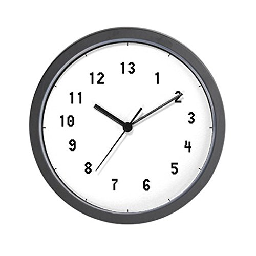 Cheap CafePress – 13 Hour Clock – Unique Decorative 10″ Wall Clock