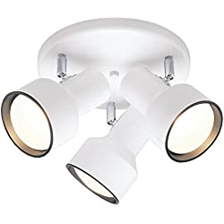 Westinghouse FBA_6632600 66326-00 66326 Three-Light Multi-Directional Ceiling Fixture, 1, White