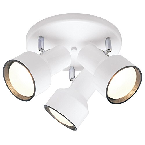 - Westinghouse 6632600 Three-Light Multi-Directional Flush Mount Interior Ceiling Fixture, Off White Finish