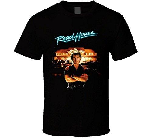 Whitesmith Custom Roadhouse Patrick Swayze Men's Funny T-Shirt 100% Cotton Tee Large (Did Patrick Swayze And Jennifer Grey Became Friends)