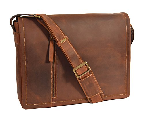 Mens Messenger Bag Pelle Marrone Ipad Laptop Vintage Spalla Record Lavoro Ufficio Uni School Bag A72