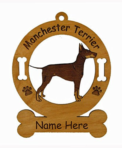 3536 Manchester Terrier Standing Ornament Personalized with Your Dog's Name