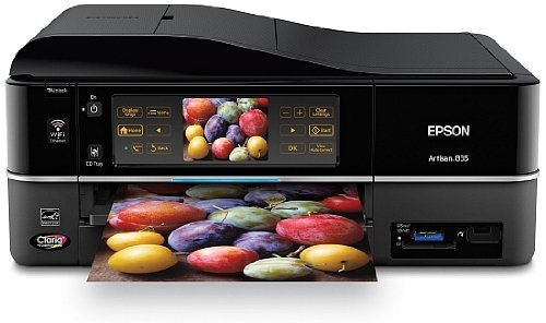 Epson Artisan 835 Wireless All-in-One Color Inkjet Printer, Copier, Scanner, Fax (C11CA73201)