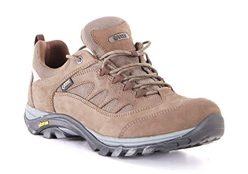 YDS Mens 100% Waterproof Hiking Grey Boots Shoe Vibram Nitrile Rubber Sole. (10M US) Gore-TEX