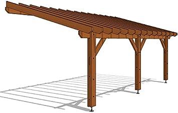 Pergola adosada de 690/400, 27 m2, calidad superior, montaje fácil ...